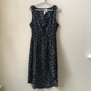 Mimi Chica Black & White Sleeveless Hi-Lo Dress